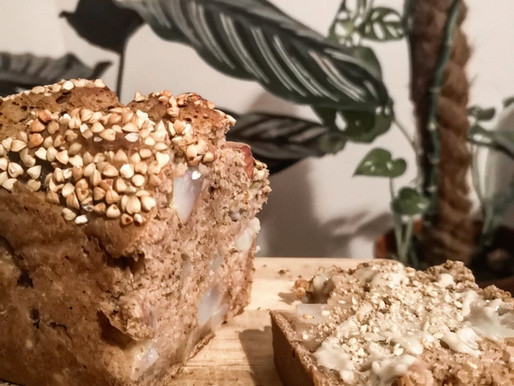 Cake Poire et Châtaigne: vegan & sans sucre