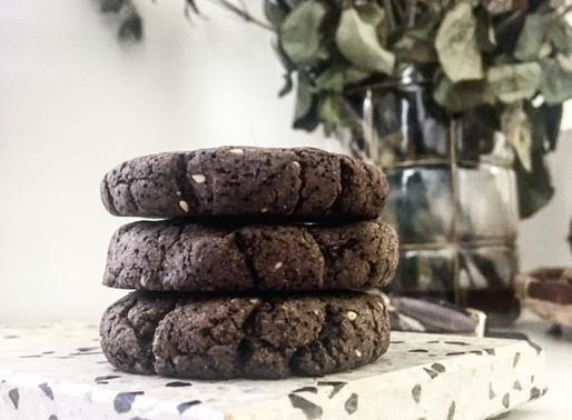 Cookies vegan sésame noir sans gluten (souchet/sarrasin)