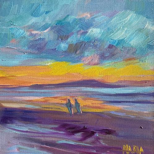 Sunset at White Rocks Beach, Portrush