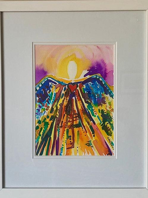 Angel of Divine Light (Framed)