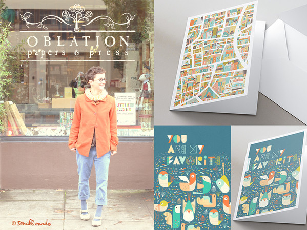 My cards now at Oblation Papers!