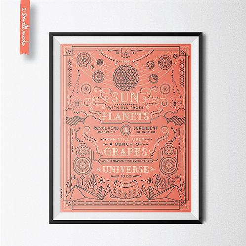 "Line By Line 8X10 Art Print ""Sun & Planets"""