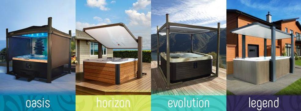 Covana product line including: Oasis, Horizon, Evolution, Legend.