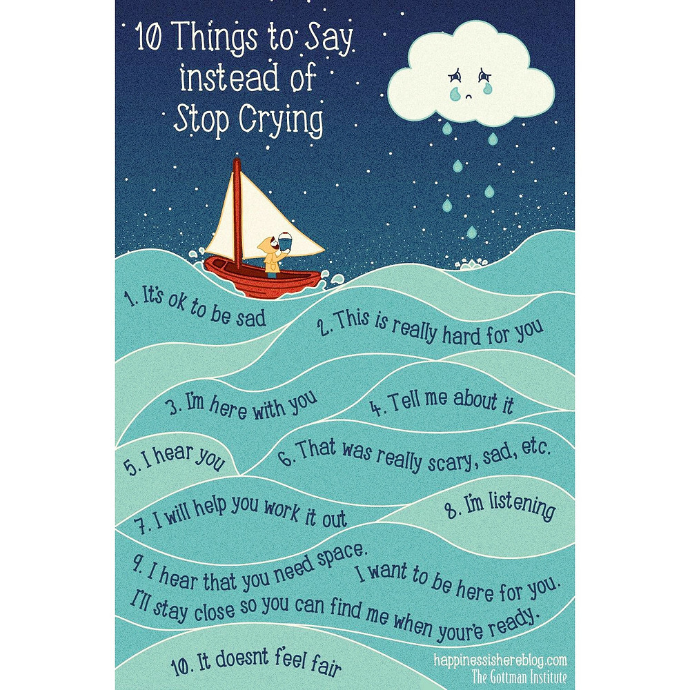 10 things to say to a tearful child