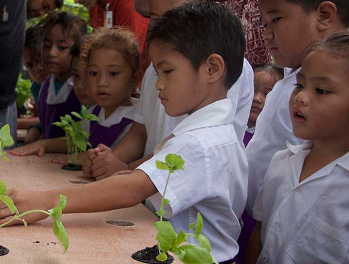 Aua village kids teachiing about growing garden.jpg