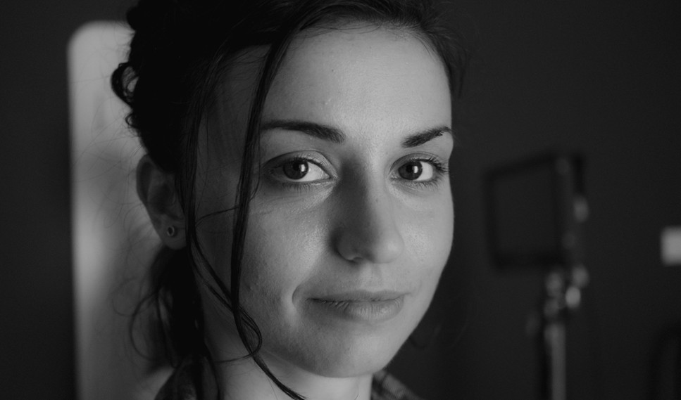 """Actor Cristina Rambaldi on the set of """"Show Me What You Got"""" - photo by Gianluca Sansevrino"""