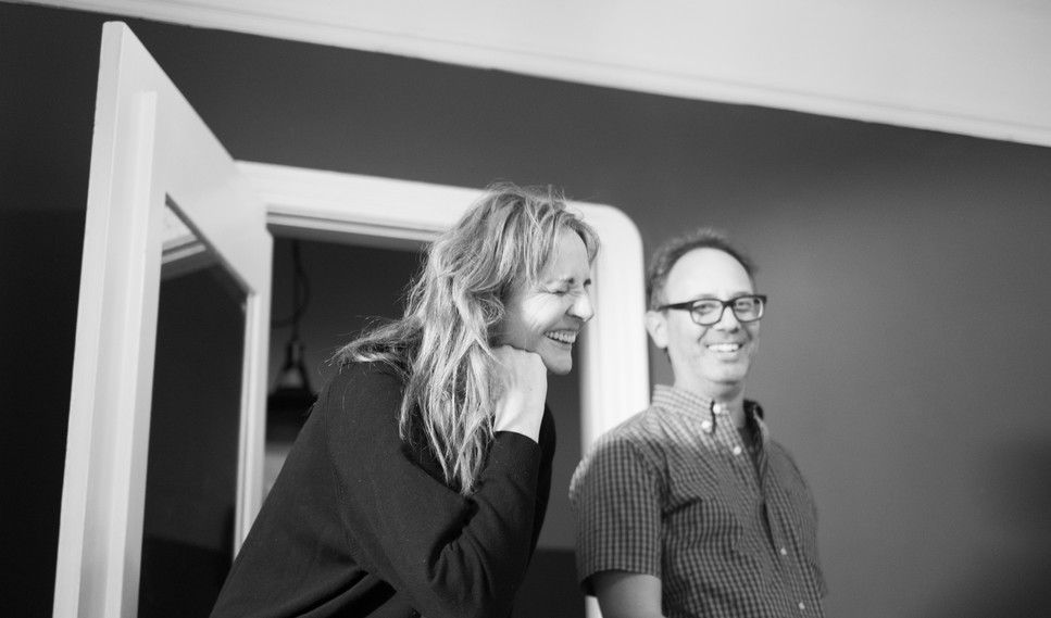 """Director/DP Svetlana Cvetko and Producer/Editor David Scott Smith on the set of """"Show Me What You Got"""" - photo by Gianluca Sansevrino"""