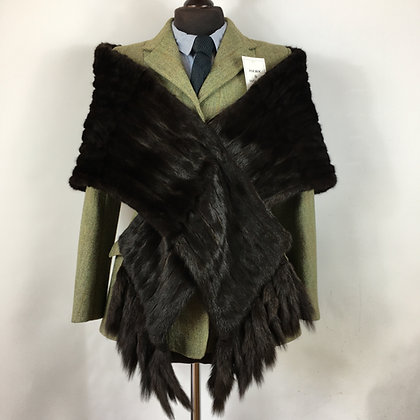Vintage mink shawl with detachable tails
