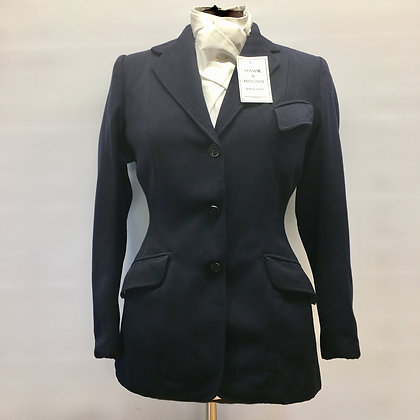 """34"""" Vintage Navy Med weight Harry Hall coat"""