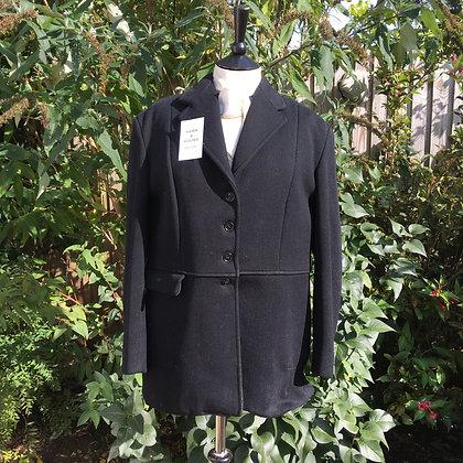 "4 Button Ladies Black Matlock & Brown Hunt coat 40"""