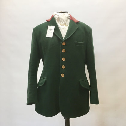 Green 5 button Calcutt's coat 40""