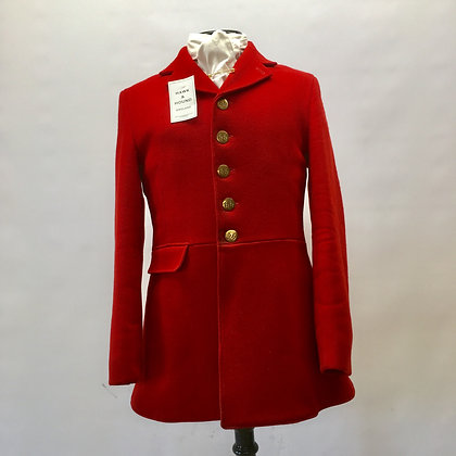 Calcutt 5 button red hunt coat 36""