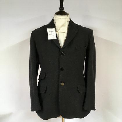 "Gent's Vintage Black Coat 38"""