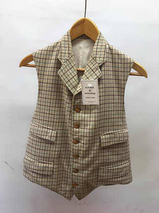 Men's Tattersall waistcoat with lapels 40""