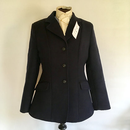 Shires navy hunt coat 34""