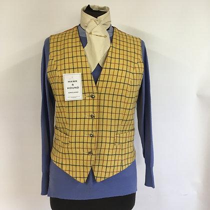 """Ladies Tattersall check waistcoat 36"""""""