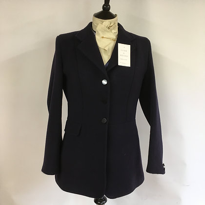 Ladies Navy Caldene Frock Coat 38""