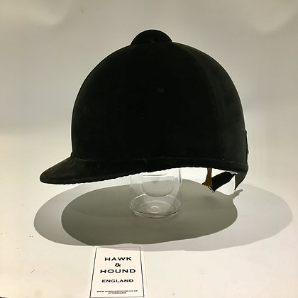 7 1/8  58cm Lock & Co Black Hunt Cap