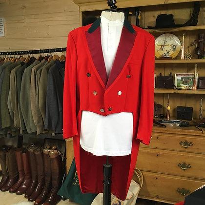 "Gentlemans Evening Dress Red Tail Coat  42""/44"""