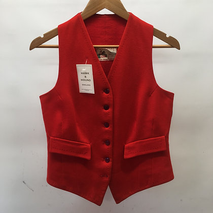 "36"" Ladies red waistcoat"