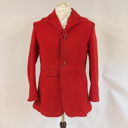 """Gentleman's 3 button red hunt coat 40-42"""""""