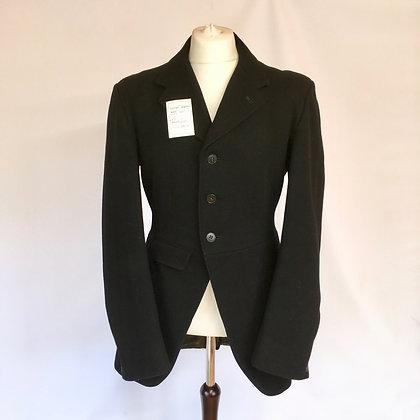 """OUT ON APPROVAL Vintage Bespoke Black Coat 40"""""""