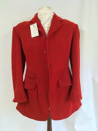 Vintage Moss Bros 3 button red hunt coat 40""