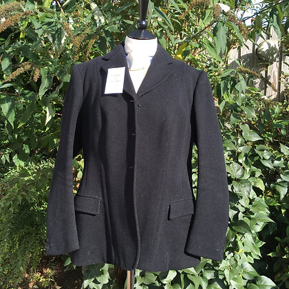 Ladies Frank Hall Bespoke Black Coat 42/44""