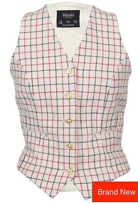 """46""""NEW Ladies Red & Black Tattersall Check Waistcoat"""
