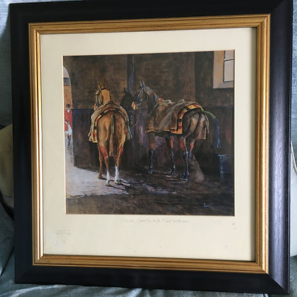 """Daniel Crane Limited Edition Print 63/100  """"Their Masters Footsteps""""  £275.00"""