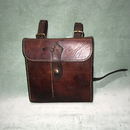 Vintage leather case and sandwich tin