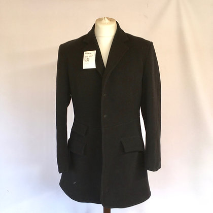W H GIDDEN BLACK COAT 40/42""
