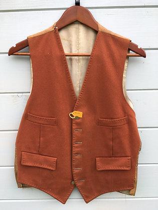 """Brown Doeskin Waistcoat 36/38"""""""