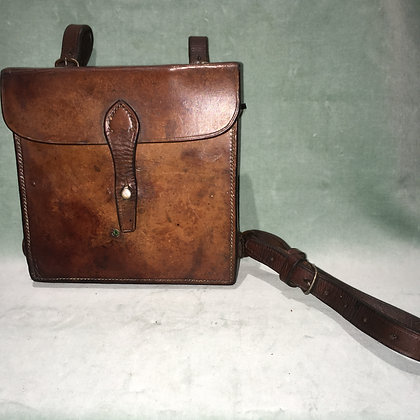 Vintage leather hunting canteen