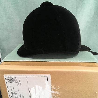 Patey Black hunt cap 6 3/4  55cm