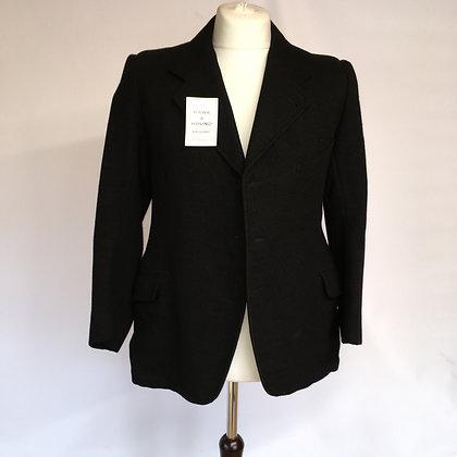 "38"" Vintage Bespoke Black Coat"