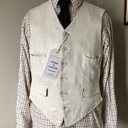 "40"" Sandon white buckskin waistcoat"