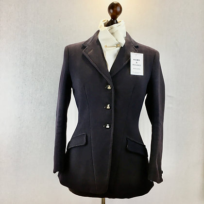 "34"" Bernard Weatherill vintage navy coat"