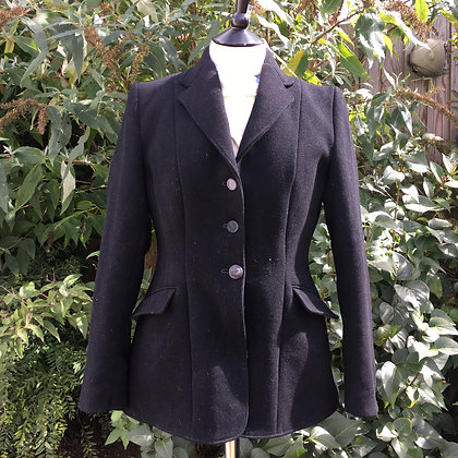 Ladies Black Derby House Hunt coat 36""