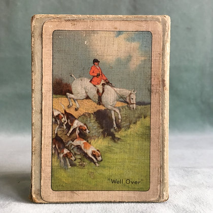 Vintage hunting scene playing cards