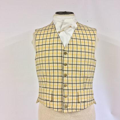 """Men's Tattersall waistcoat 36"""""""