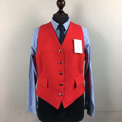 """42"""" ladies Mears Pytchley red waistcoat"""