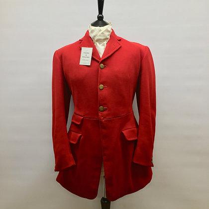 "40"" Moss Bros bespoke red 3 button coat 1959"