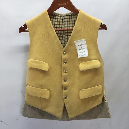 "Men's vintage mustard waistcoat 38"""