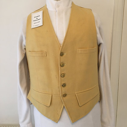 "38""Mustard wool waistcoat"