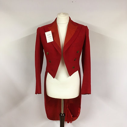 Red Evening Tailcoat  38""