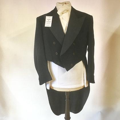 "Black Evening Tailcoat 38"""