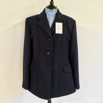 SHIRES MARLBOROUGH LADIES NAVY HUNT COAT 40""