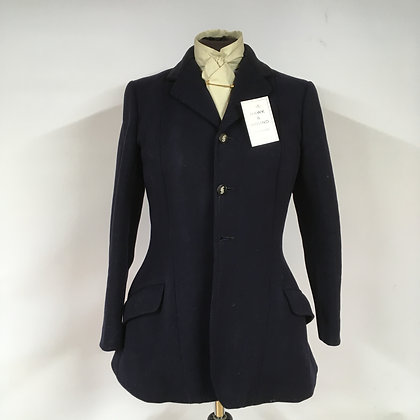 Vintage Navy Hunt Coat 34""