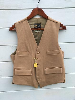"""Dunn & Co Tan Doeskin Waistcoat 38/40"""""""
